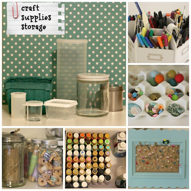 Craft Supplies Storage - Organize and Decorate Everything