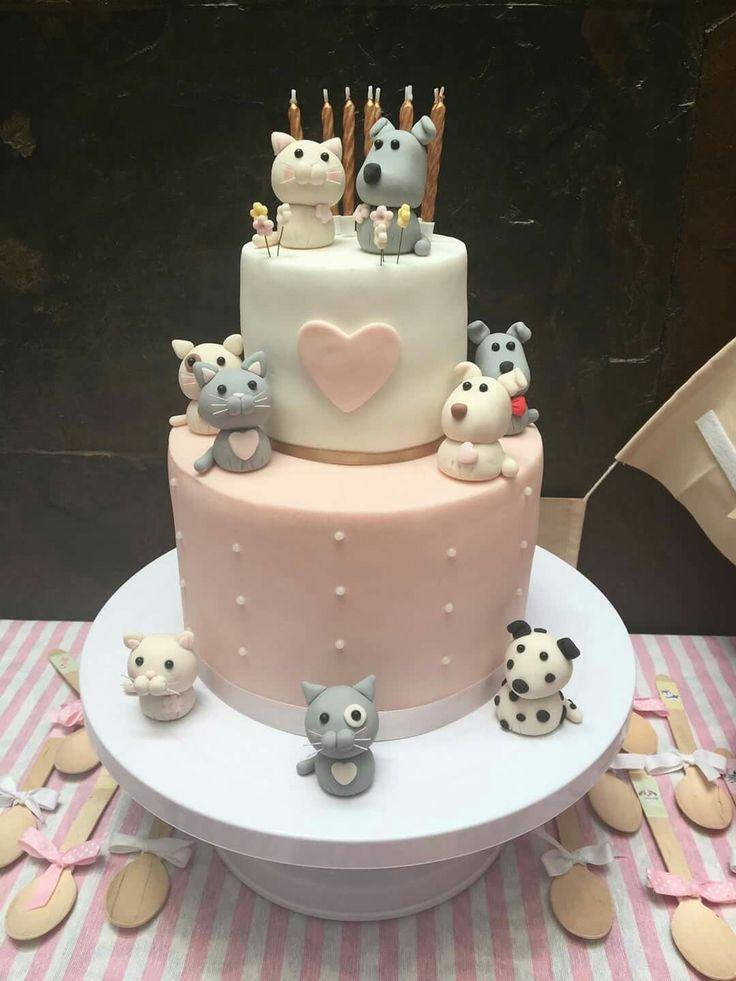 Tarta gatitos y perritos... cute puppies and cats