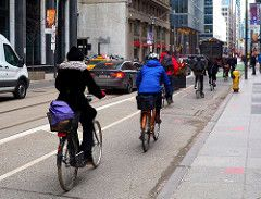 Toronto: Cycle Track on Adelaide Street west of Yonge Street