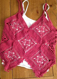 Hanky Hem Motif Camisole by Dawni Criswell   Ravelry   Created for 5 ply cotton yarns, this would be a beautiful summer top for ladies and girls