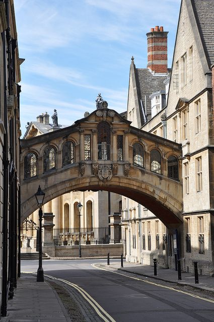 Oxford's Hertford Bridge, popularly known as the Bridge of Sighs, is a skyway joining two parts of Hertford College over New College Lane.