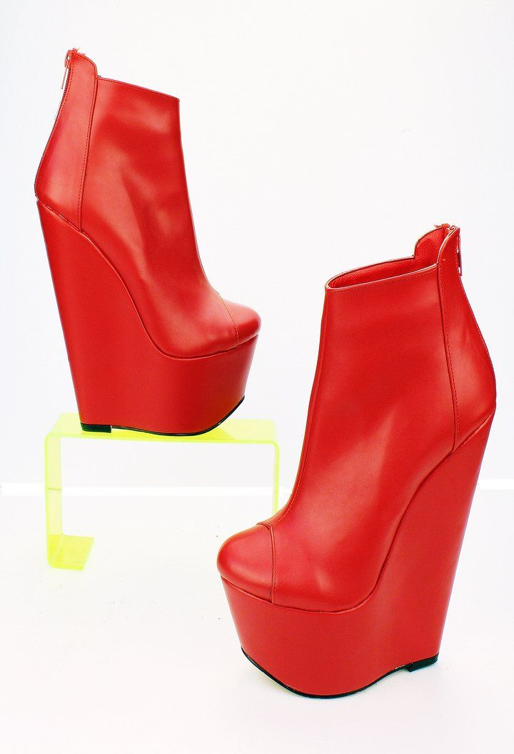 a703248d790b Red High Heel Boots - Tajna Club