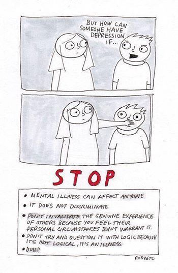 Mental health is so important, and it is time we got rid of the stigma surrounding mental illness. It can happen to anyone.