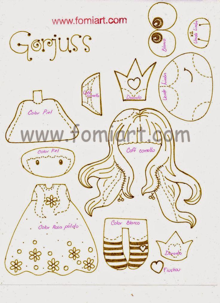 Patrones Gratis Princesa Gorjuss | Fomiart