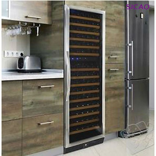 Modern Furniture! 168 Bottles Dual-Zone Wine Cooler Cabinet With Stainless Steel Door $1~$698