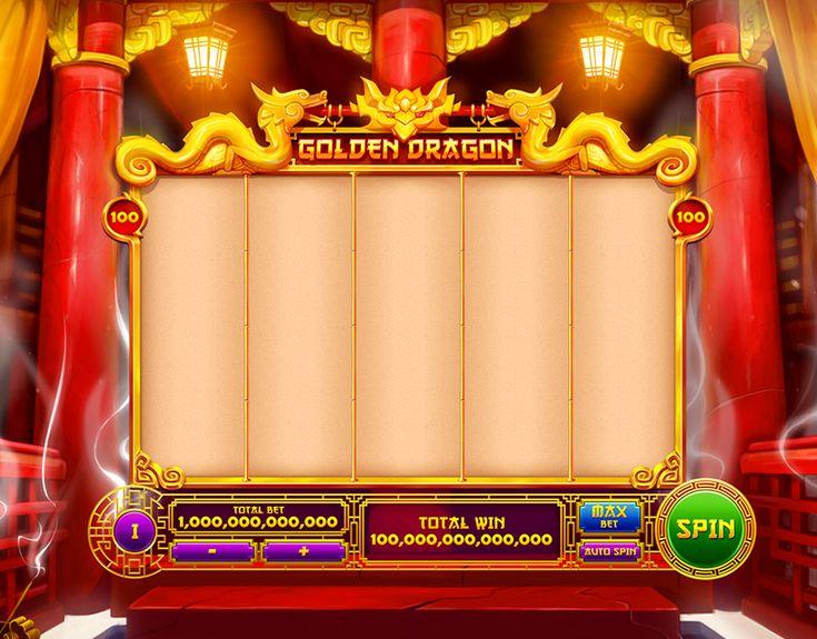 Golden dragon slot game art