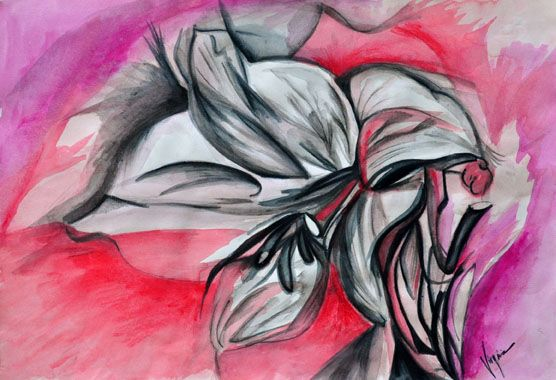 Fiore #watercolor on paper (available #print on canvas) #flower #painting