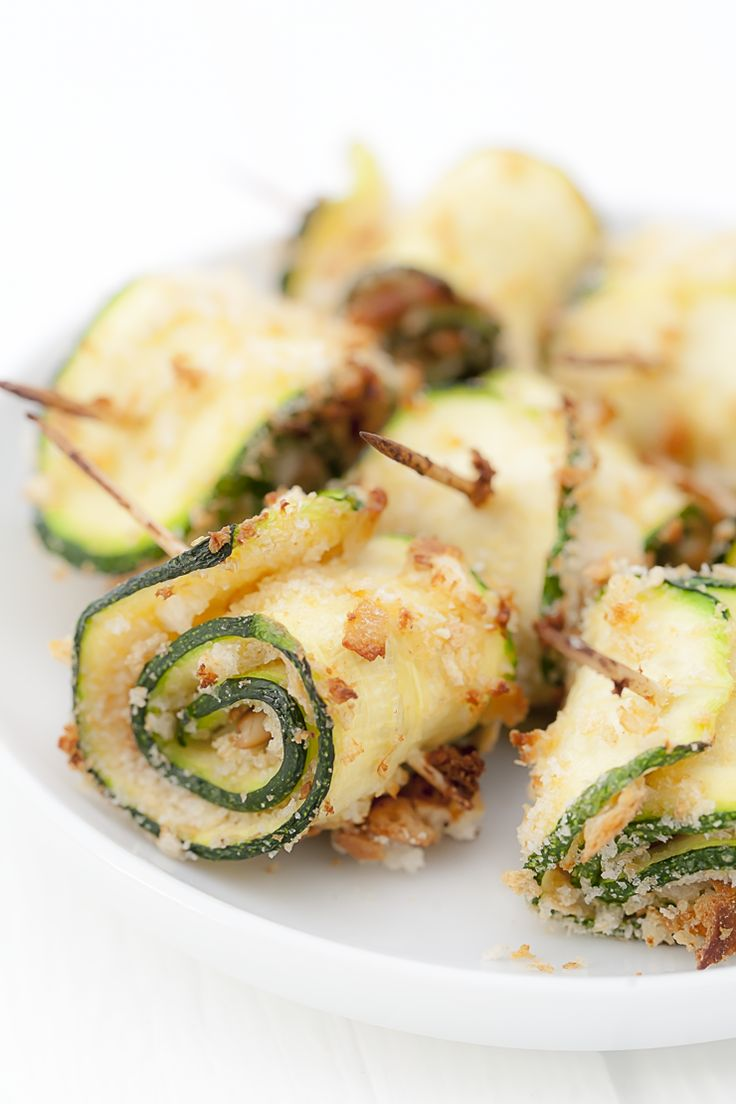 Zucchini rolls recipe - Rezept für Zucchiniröllchen auf Mediterran Kochen