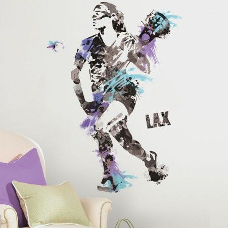 Women's Lacrosse Champion Giant #WallDecals