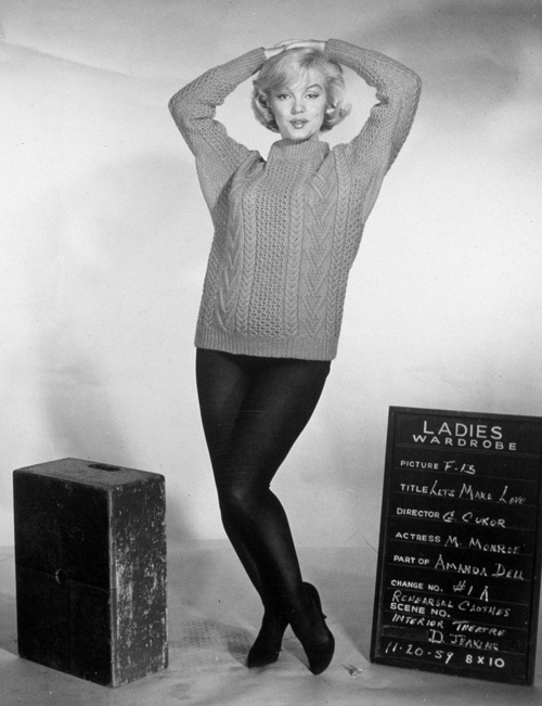 Marilyn Monroe in a costume test for Let's Make Love, 1959.