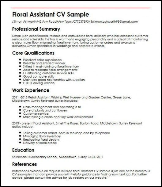 Flower Shop Duties Is So Famous But Why Flower Shop Duties Https Ift Tt 33dheea Cv Template Cv Examples Retail Resume Examples
