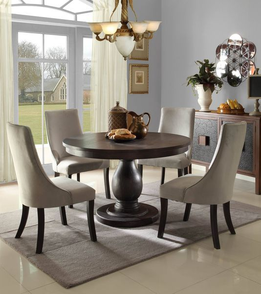 Adam's Quest Round Dinette Set with Upholstered Side Chairs