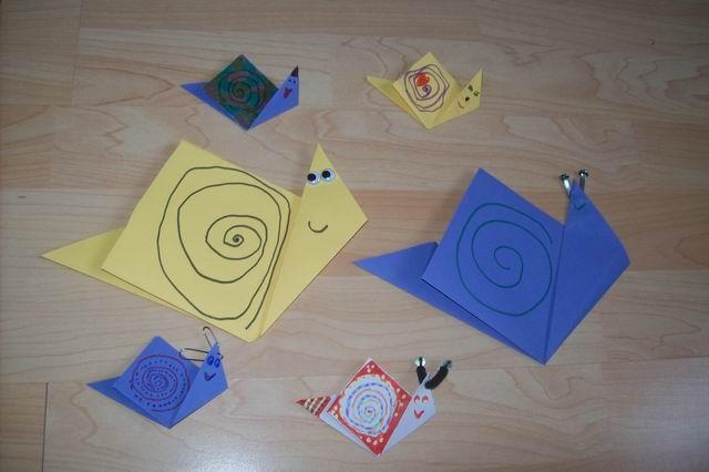 csupamoka2 JÁTÉKPOLCÜRÍTÉS!!!!: Csigáék: origami csiga család