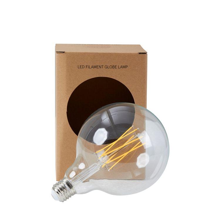LED-Lampe Kugel L , Durchsichtig