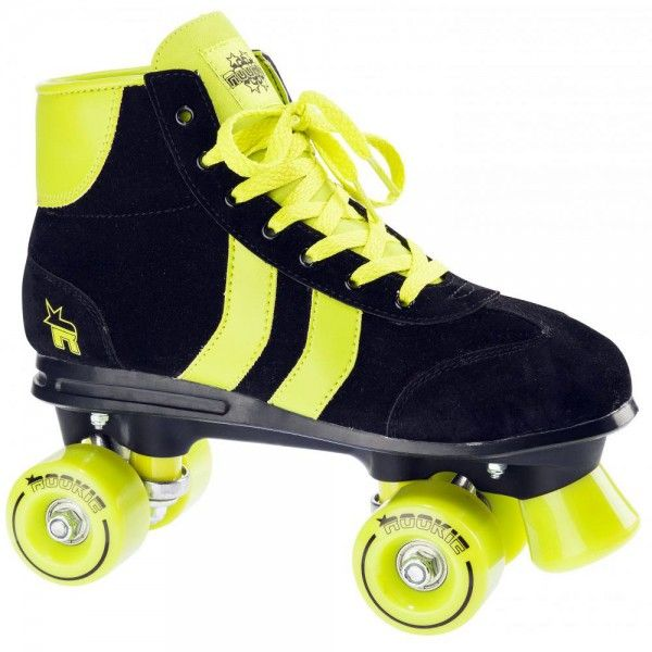 Rookie Retro Roller Skates Black/Lime