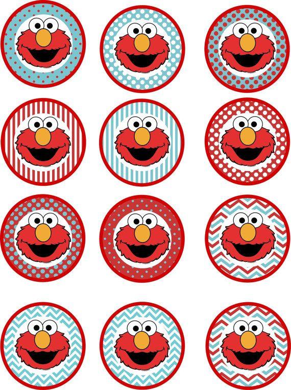 Pack fiesta imprimible de cumpleaños de Elmo por CarolinaInvites