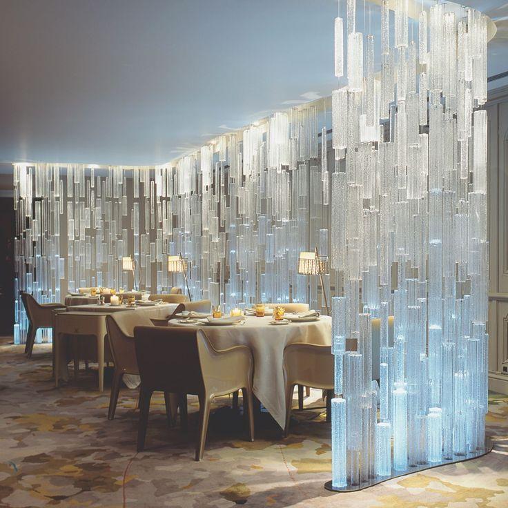 Leucos #Reed by Patrick Jouin: project for L'Auberge de l'Ill, Illhaeusern - #France. Architect: Jouin Manku Studio. Credit: Eric Laignel #Leucosproject #Leucoslovablelamps