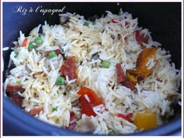 Un riz à l'espagnol dans le Rice Cooker