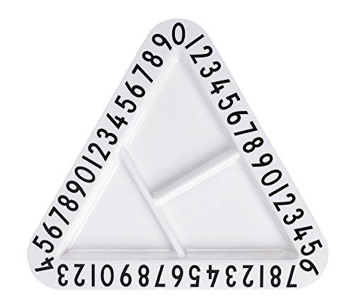 Design Letters Melamine Triangular Snackplate Snackplatte Teller mit Unterteilungen Kinderteller, Knabberteller