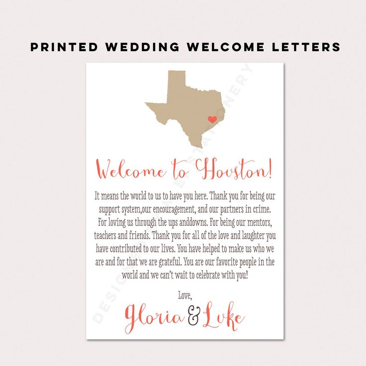 Wedding Welcome Card, State Themed Wedding, Wedding Welcome Letter, Wedding Welcome Bag, Wedding Thank You Card, Destination Wedding Favors by DesignedByME on Etsy https://www.etsy.com/listing/260109810/wedding-welcome-card-state-themed