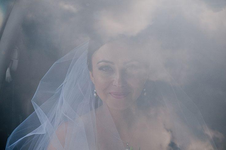 Through the window - bride
