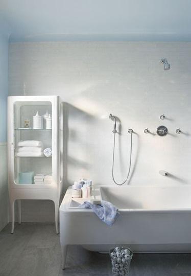 Paint Color Portfolio: Pale Blue Bathrooms