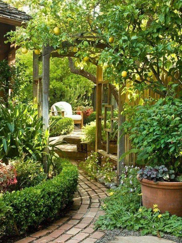 Die besten 25+ Garteneingang Ideen auf Pinterest Garten bogen - pergola im garten ruckzugsort bluhend
