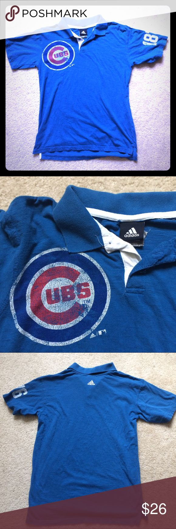 {Adidas} Men's Chicago Cubs Polo Adidas Chicago Cubs Polo, size M. Get game ready with this 100% Cotton polo. adidas Shirts Polos