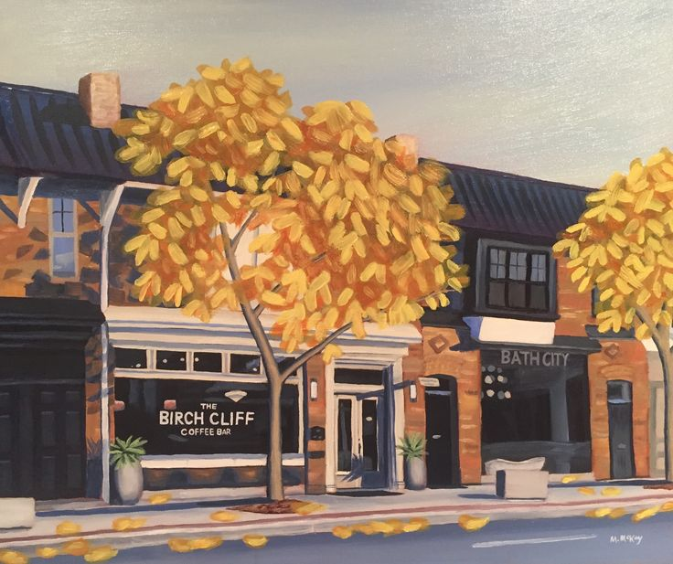 Autumn on Kingston Road, original oil painting for sale by artist Maureen McKay