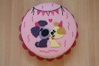 Doggy cupcake #topper Karins Taarten: Woezel en Pip taart