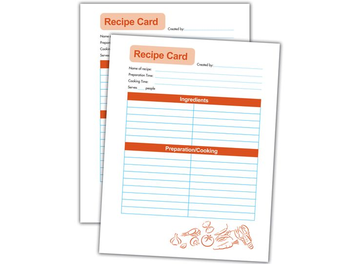 Best Free Recipe Card Software Images On   Recipe