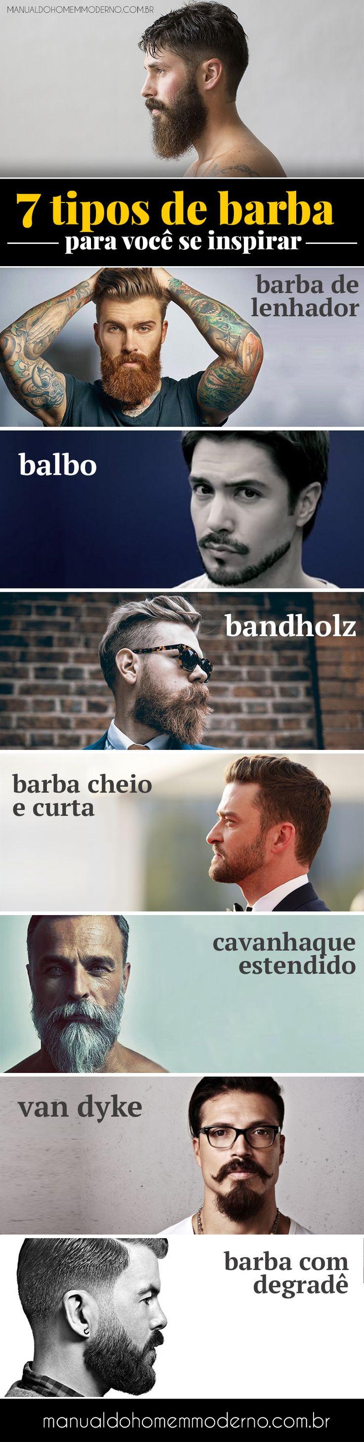7 tipos de barba estilosas para você se inspirar e usar.
