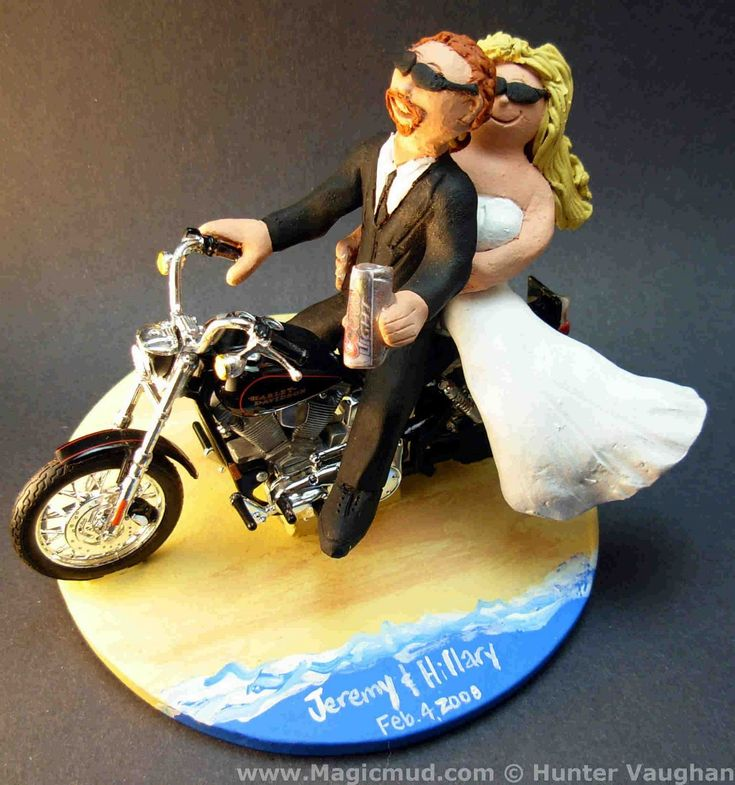 motorcycle couple wedding cake topper 7 best images about motorcycle cake toppers on 17606