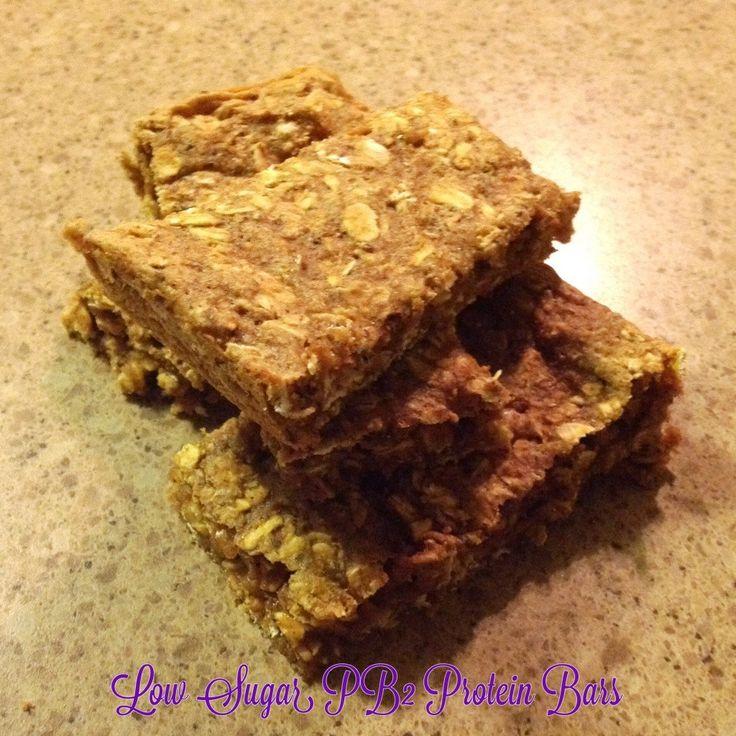 Low sugar PB2 protein bars