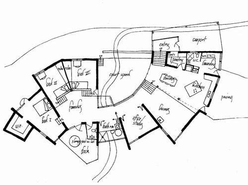 Earth Houserammed Earthorganic Architecturehome Planstiny Housefloor
