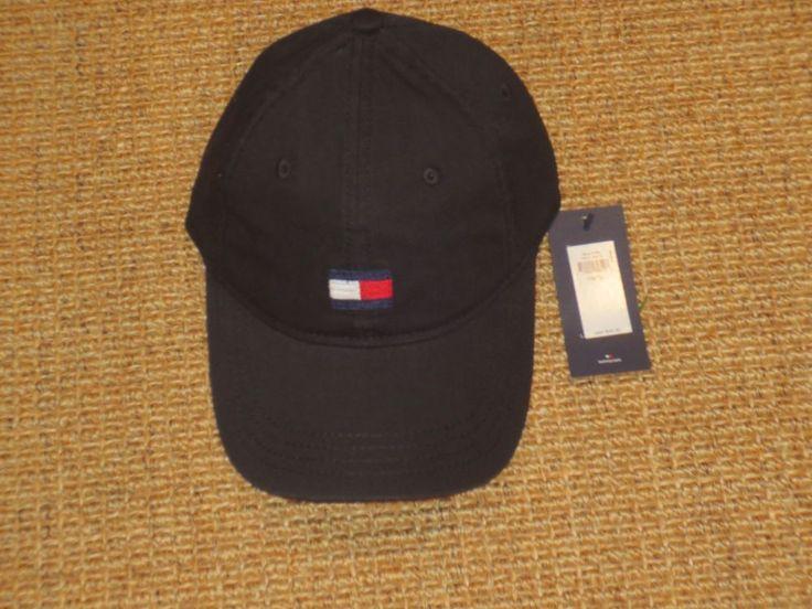 TOMMY HILFIGER  BASEBALL CAP MEN'S BIG FLAG  LOGO   BLACK  SPORT CLASSIC NEW #TommyHilfiger #BaseballCap
