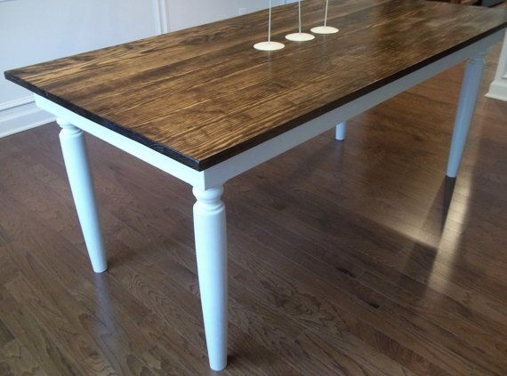 6' Rustic French Farm Style Dining Table by FlippingFuquay on Etsy
