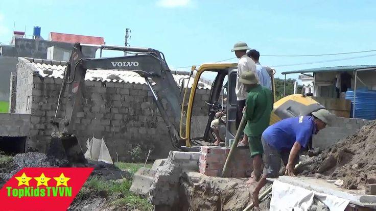 Topkidstvvn-Máy xúc volvo làm việc-Volvo excavator for kids