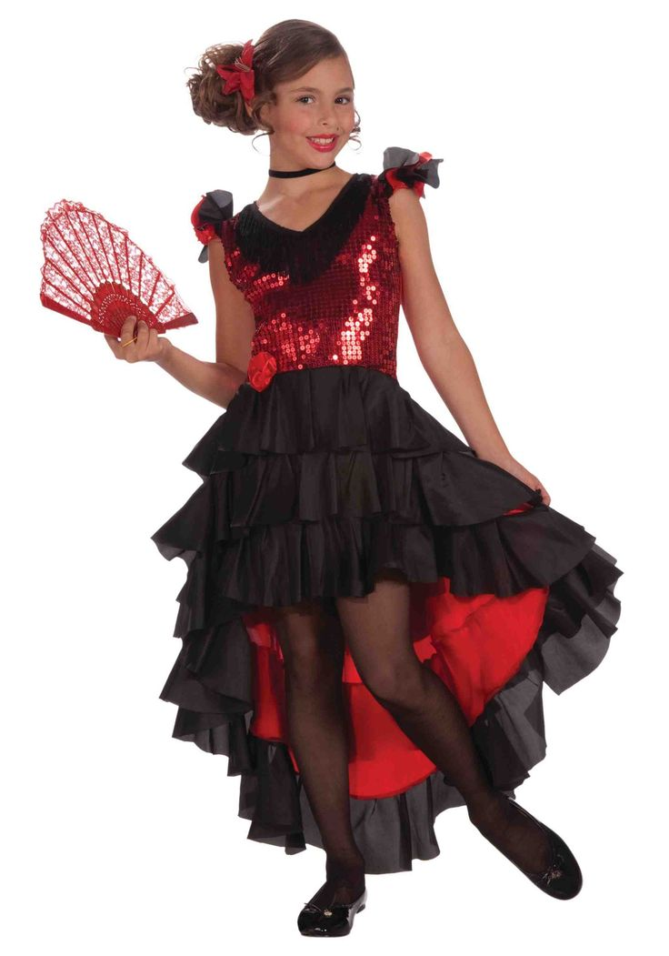 Child Spanish Dancer Costume                              …