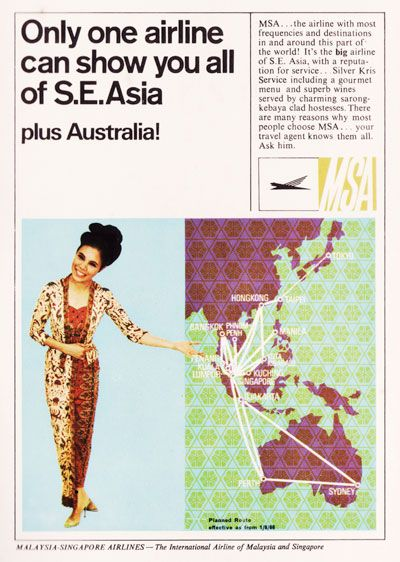 MSA ( Malaysia-Singapore Airlines ) early 60's