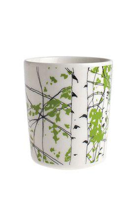 Högt upp på önskelistan - kopp med björkmönster, från Marimekko