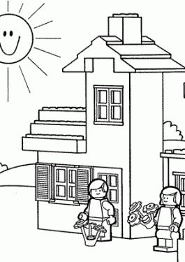 lego coloring page for kids printable free lego