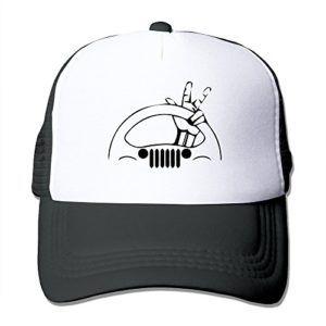 Adjustable Black Peace Jeep Wave Hat