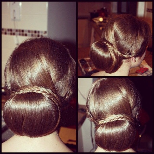 Wedding hair styles Low bun,Hair up,Fishtail braid, wedding updo, Hair by Irena's Hair Design  Makeup, hair style