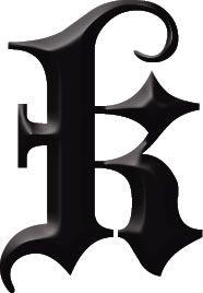 k | Letters & Numbers Tattoos | TattooForAWeek.com - Temporary tattoos ...