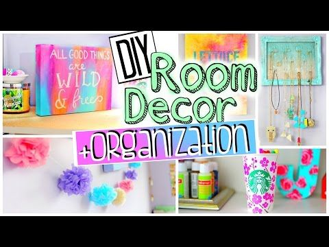DIY Room Decorations and Organization   Spice up your room for 2015! JENerationDIY - YouTube