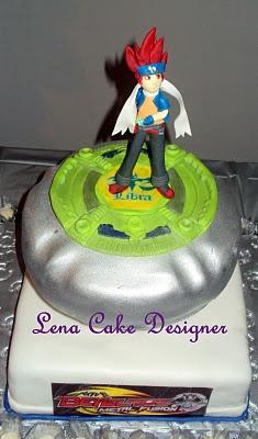 Bayblade cake