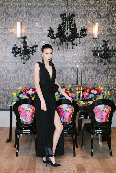 Black Valentino collection Photoshoot by Flowers Time #luxury#wedding#bright#red#yellow#green#photoshoot#toronto#model#fashion#vogue#style