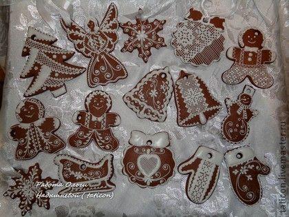 Nový rok 2015 ruční práce.  Fair Masters - ruční.  Kupte sadu Perník vánoční ozdoby (velkých).  Ruční výroba.