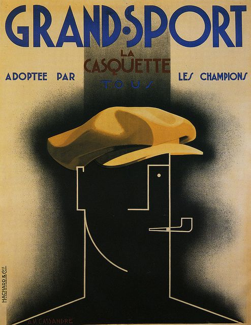 Grand-Sport by A.M. Cassandre, 1925 via Flickr